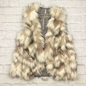 free People Call of The Wild Reversible Faux Fur